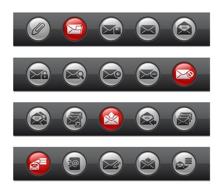 E-mail Icons -- Button Bar Series  Vector