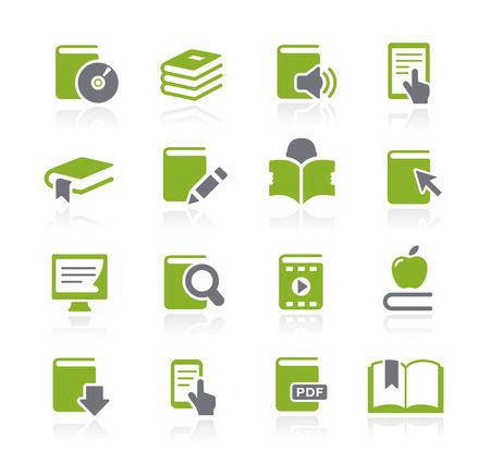 Book Icons -- Nature Series Vector