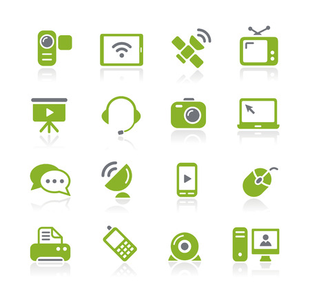 Communication Icons -- Nature Series Vector