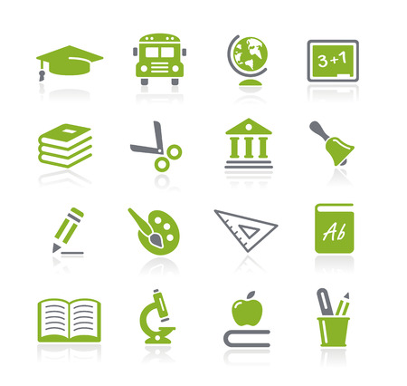 Education Icons -- Nature Series Illustration