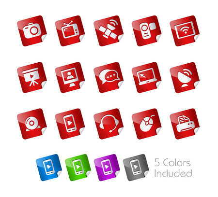 Communications Stickers  Vector