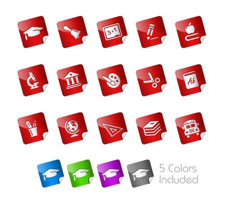 Education Stickers  Stock Vector - 22536803