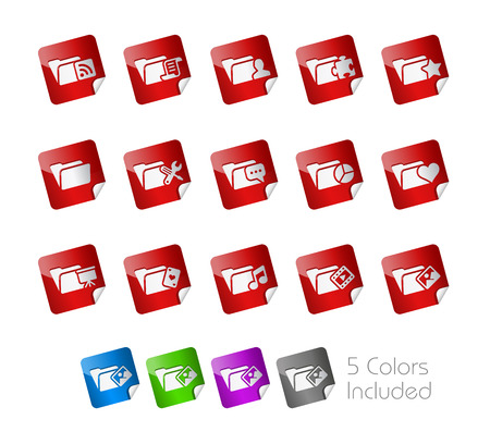 Folder Stickers Stock Vector - 22536809