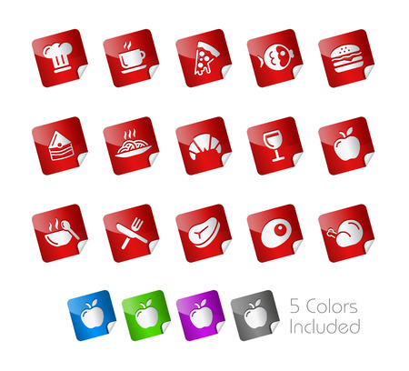 Food Stickers Stock Vector - 22536831