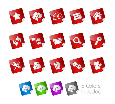 Hosting Stickers  Vector