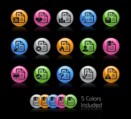 Documents Icon set - The file Includes 5 color versions in different layers  Vector