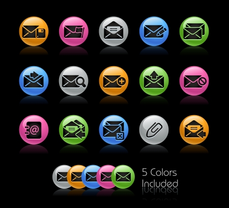 e-mail Icon set - The file Includes 5 color versions in different layers Stock Vector - 23206376