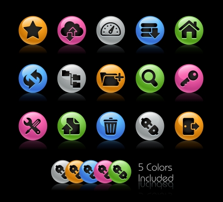 Hosting Icon set - The file Includes 5 color versions in different layers Sports Icon set - The file Includes 5 color versions in different layers  Vector