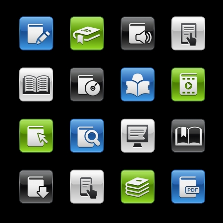 encyclopedias: Books Icons -- Gelbox Series  Illustration
