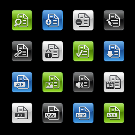 formats: Document Icons 1 -- Gelbox Series  Illustration