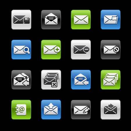 E-mail Icons -- Gelbox Series  Vector