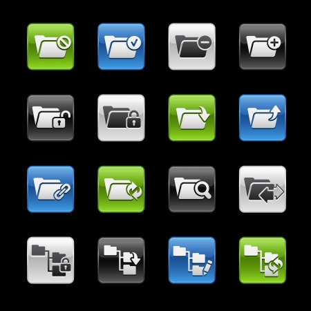 Folder icons 1 -- Gelbox Series  Vector