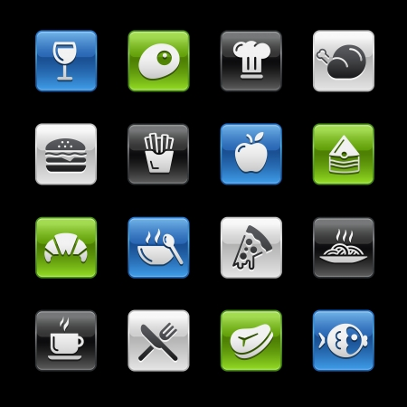 Food Icons 1 -- Gelbox Series  Stock Vector - 23655161