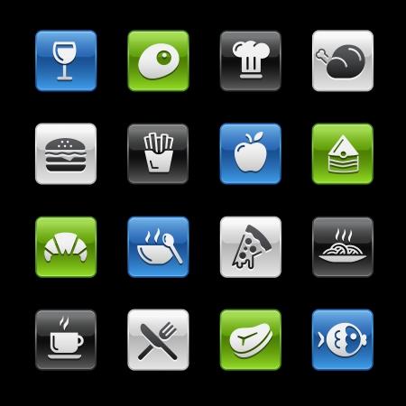 Food Icons 1 -- Gelbox Series  Иллюстрация