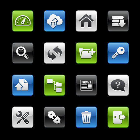 Hosting Icons -- Gelbox Series  Vector