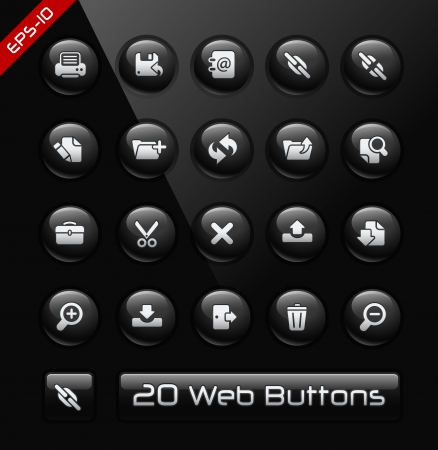 menu buttons: Icons for Software Developers Illustration