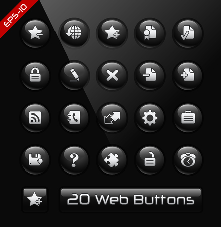 Icons for Web Sites and Software Developers -- Black Label Series Vector