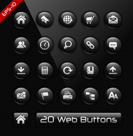 Icons for Web Sites Developers -- Black Label Series  Vector
