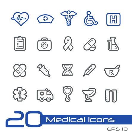 Medical Icons -- Line Series Vector