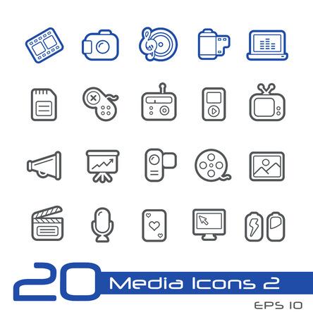 sd: Media Icons -- Line Series Illustration