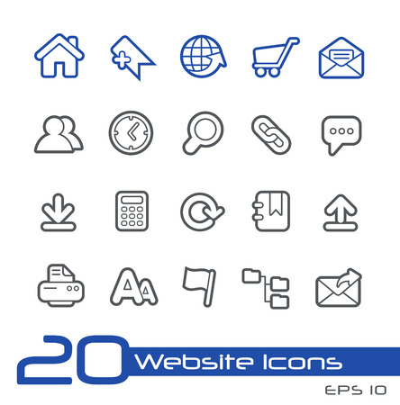 Website Icons -- Line Series Vector