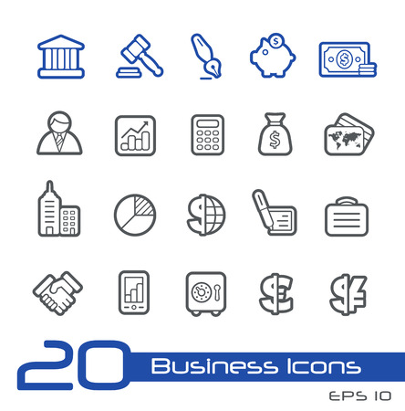 legal contract: Business and Finance Icons -- Line Series Illustration
