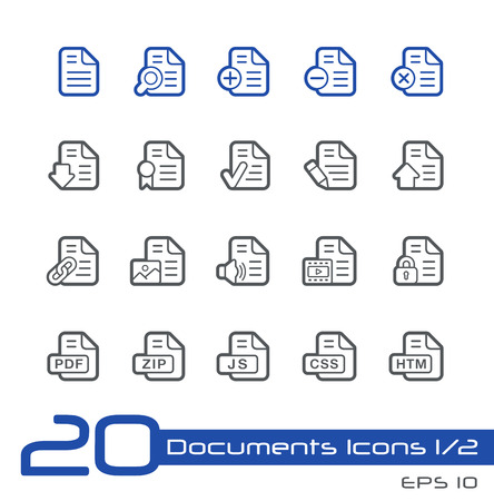 mov: Documents Icons - 1 of 2 -- Line Series