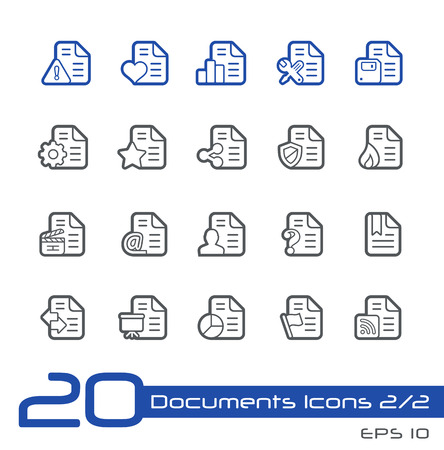mov: Documents Icons - 2 of 2 -- Line Series