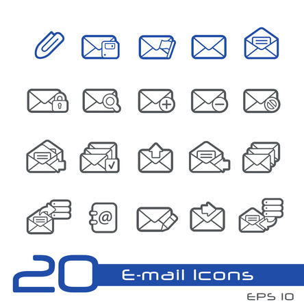 select all: E-mail Icons -- Line Series