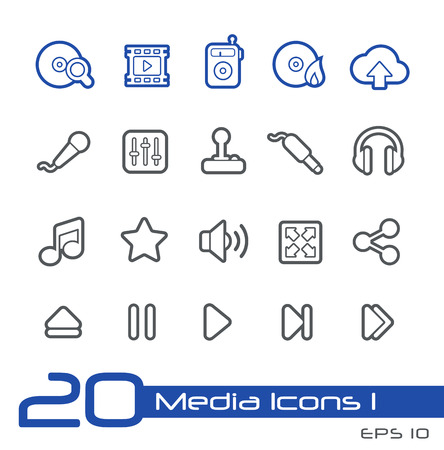 Media Icons -- Line Series Vector