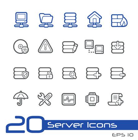 hard drive: Server Icons -- Line Series