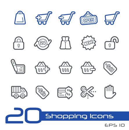 Sopping Icons -- Line Series Vector