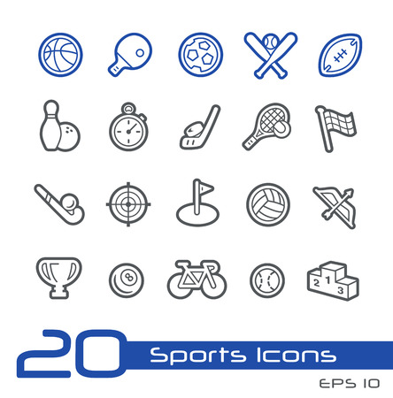 Sports Icons -- Line Series Vector