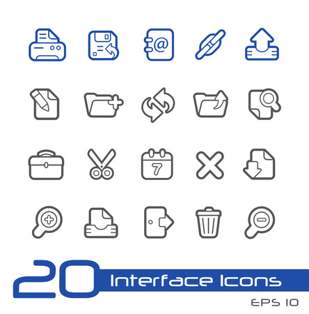 Web Icons -- Line Series Vector