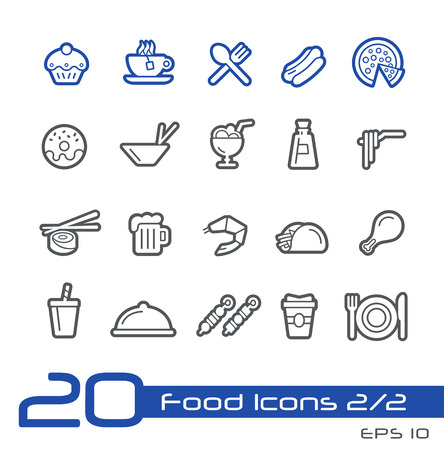 Food Icons - Set 1 of 2 -- Line Series Stock Vector - 31728264