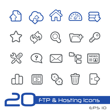 ftp: Hosting Icons -- Line Series