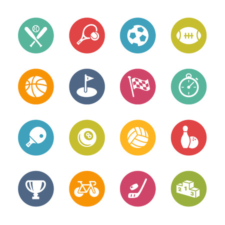 pelota rugby: Sport Icons - Colores frescos de la serie