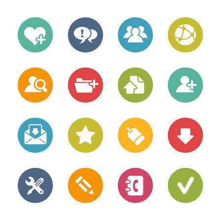 Web Icons - frisse kleuren Series Stock Illustratie
