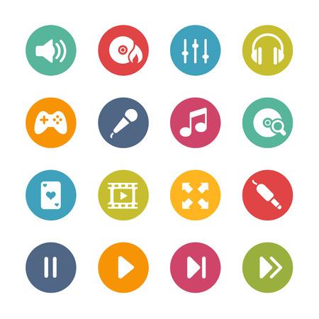 media center: Media center Icons -- Fresh Colors Series