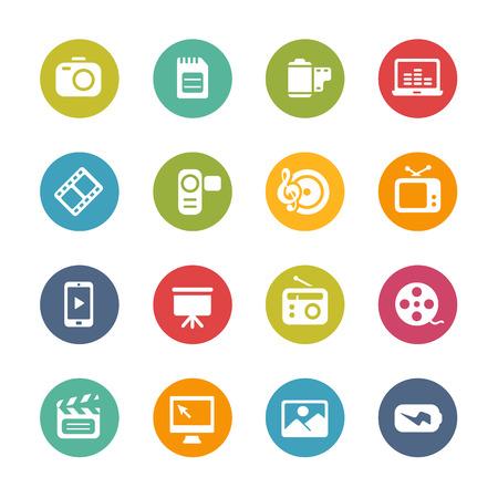 Multimedia Icons - Colores frescos de la serie
