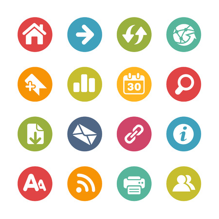 Surf the Net Icons -- Fresh Colors Series Vector