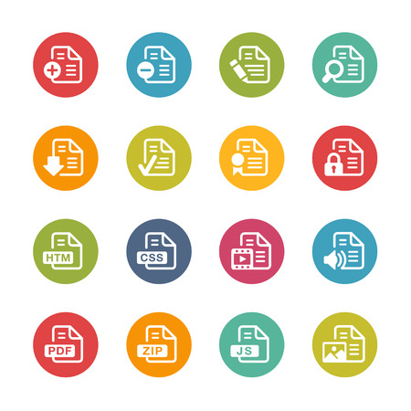 java: Documents Icons Fresh Colors Series Illustration