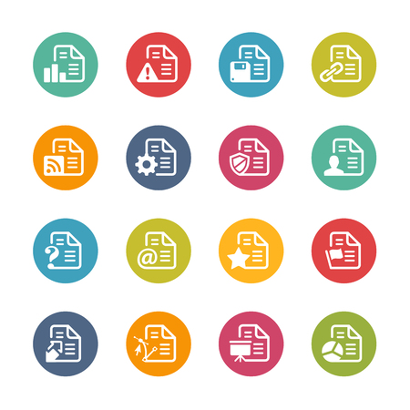 mov: Documents Icons Fresh Colors Series Illustration