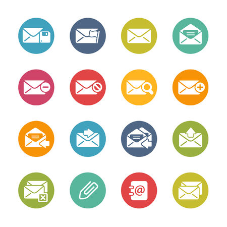 E-mail Icons Fresh Colors Series