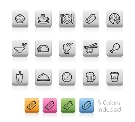 continental food: Food and Drink Icons