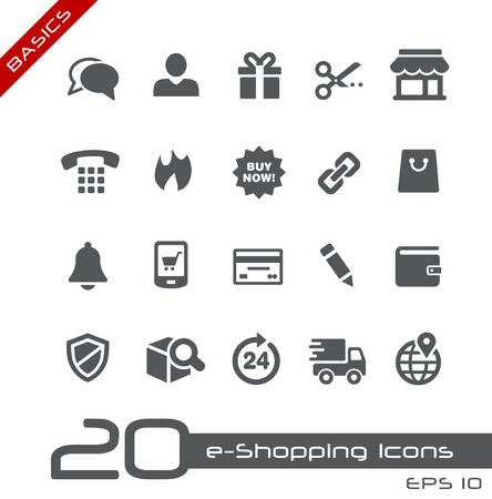 e-Shopping Icons  Vector