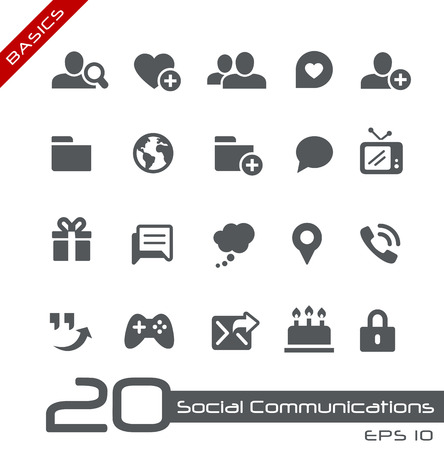 communications: Social Communications Illustration