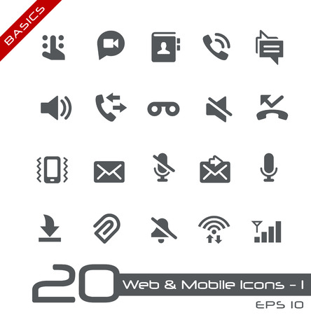 communication icons: Web and Mobile Icons 1