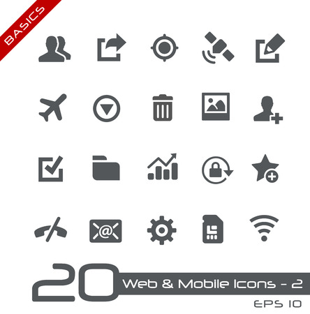 Web and Mobile Icons Stock Vector - 35227519