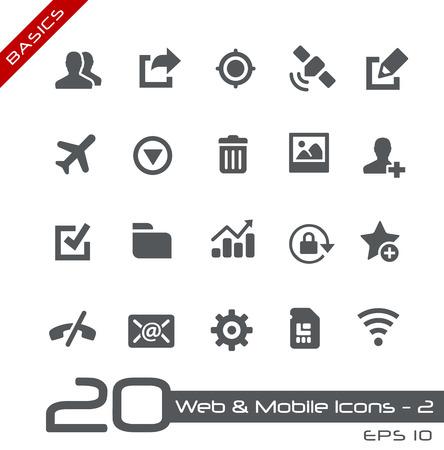 interface web: Web et des ic�nes mobiles Illustration